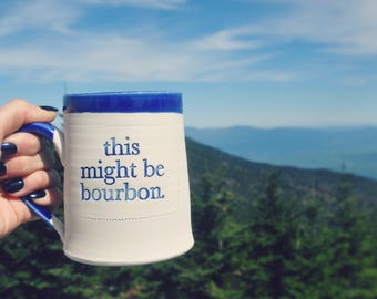 this might be bourbon Handmade Mug in Cobalt Blue  (trademarked)