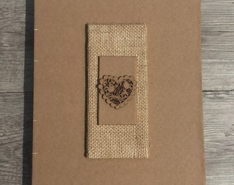 Hand Bound Coptic Stitched Wedding Guest Book