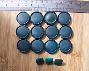 Large blue/green vintage buttons