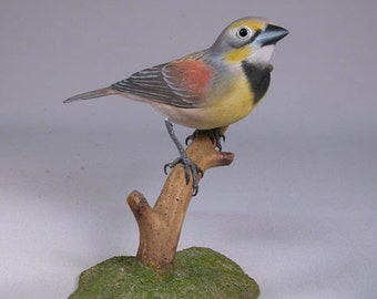 Dickcissel Hand Carved and Hand Painted Wooden carved Bird