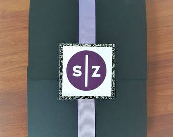 Ribbon Wrapped Wedding Invitation