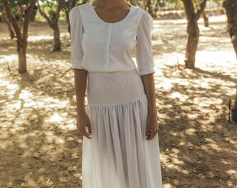 buttoned wedding dress buttoned bridal gown buttoned boho top camellia offwhite shirt