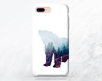 iPhone X Case iPhone 8 Case iPhone 7 Case Forest Bear iPhone 7 Plus Case Bear Tough Samsung S8 Plus Case Galaxy S8 Case iPhone Case T211