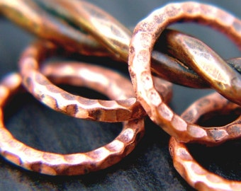 Handmade Copper Ring Knitting Stitch Markers, US10