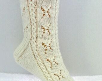 Knitting Sock Pattern, Lotsa Sugar Sock, lace and cable sock design, PDF
