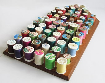 Large Sewing Thread Spool Rack With 69 Spools of Thread