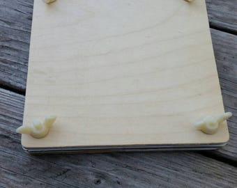 Plain wood plant/flower/herb press