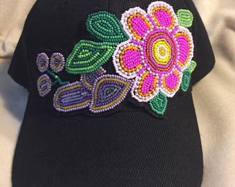 Beaded baseball cap
