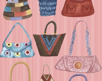 Gena Collection : Bags - Embellished Greeting Card