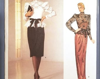 Vintage 1980s Sewing Pattern Vogue American Designer Kasper, Pattern 1189, Size 8