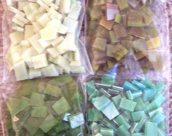 Mosaic Tiles 800 WILDERNESS MIX BATCH Stained Glass Mosaic Tile