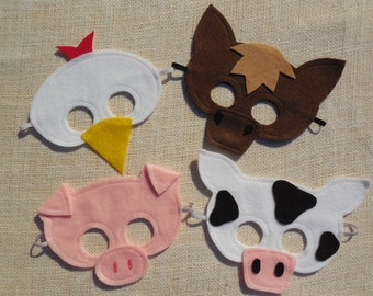 Farm Animal Mask Collection