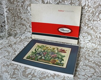 """15.75"""" x 11.75"""" Pimpernel Place Mat set ~ Boxed ~ Acrylic ~ """"Floral Array"""" ~ 4 Placemats per Set ~ 2 Sets Available ~ Made in England"""