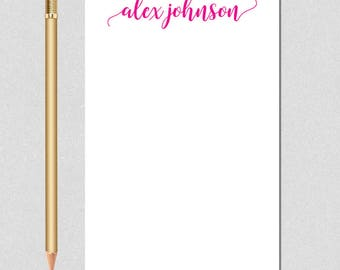 Personalized Notepad, Personalized Note Pad, Memo Pad, Family Stationery, Monogram Note Pad, Office Stationery, Teacher Gift, Graduation