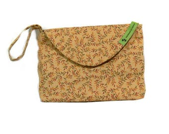 The Emily Clutch Purse  - Brown with Leaves