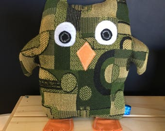 Lucy Owl- Green and Yellow