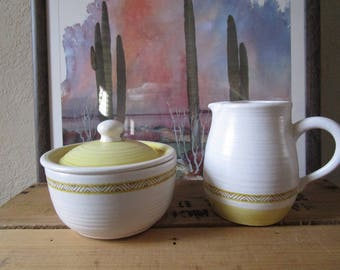 Franciscan Hacienda Gold Creamer and Sugar Bowl