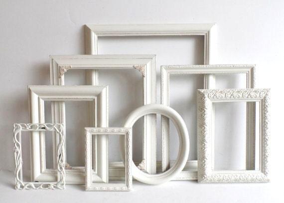 Cottage White PICTURE FRAME Set - Ornate Farmhouse - Nursery Frames ...