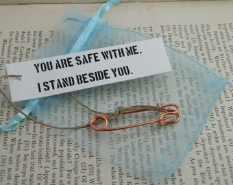 Safety Pin jewelry You Are Safe With Me Equality Jewelry Peace jewelry  #DumpTrump