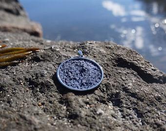 Salmon leather pendant
