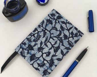 A6 Lined Notebook Hand Covered in an African Wax Print Batik Fabric