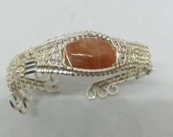 Sunstone cuff bracelet