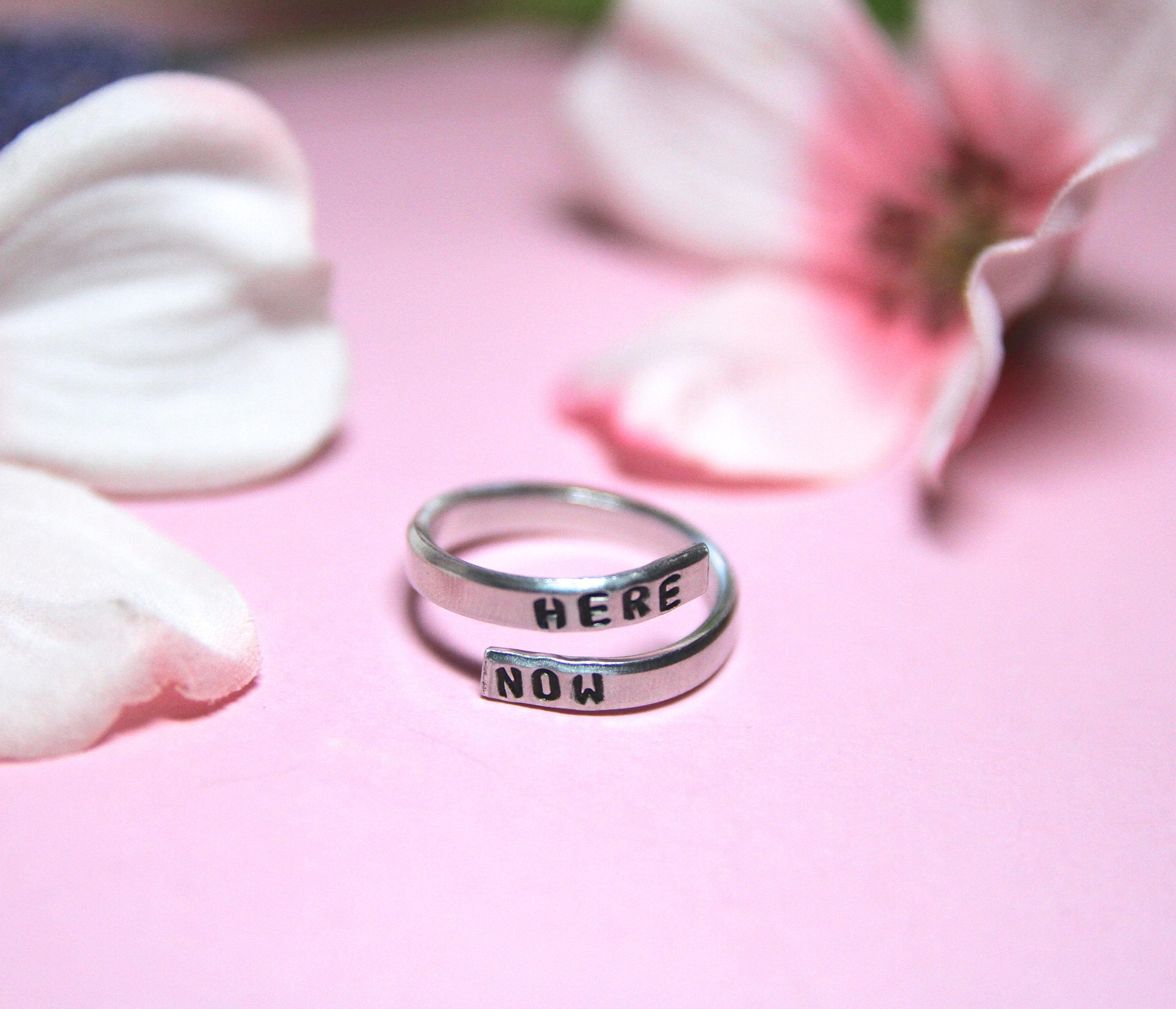 Be Here Now Ring. Be here now jewelry. Yoga Ring. Yoga Jewelry ...