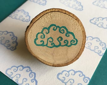 Swirly Cloud - Rubber Stamp