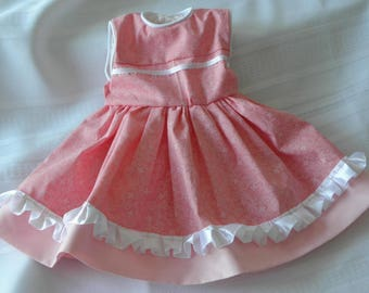 """Doll dress for 18"""" doll in Pink Print"""