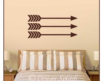 Arrow Wall Decals - Set of 3, Modern Wall Decor, Apartment Decor  HD-101
