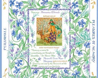 The Language of Flowers Rosemary and Periwinkle