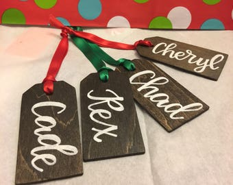 Personalized wooden tag, gift tag, Christmas, Gift, Stocking tag