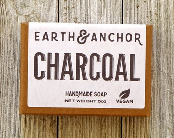 Charcoal Soap || Activated Charcoal || Olive Oil Soap || Classic Unscented || Gifts under 10