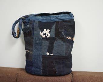 SOLD - boro sashiko handmade tote bag