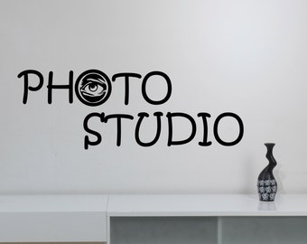 Photography Studio Sign Wall Decal Vinyl Window Sticker Eye Camera Art Decorations for Business Room Office Salon Photo Studio Decor pst2