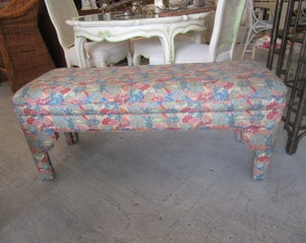 Upholstered Moroccan Style Bench