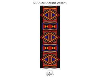 peyote pattern African Red bracelet