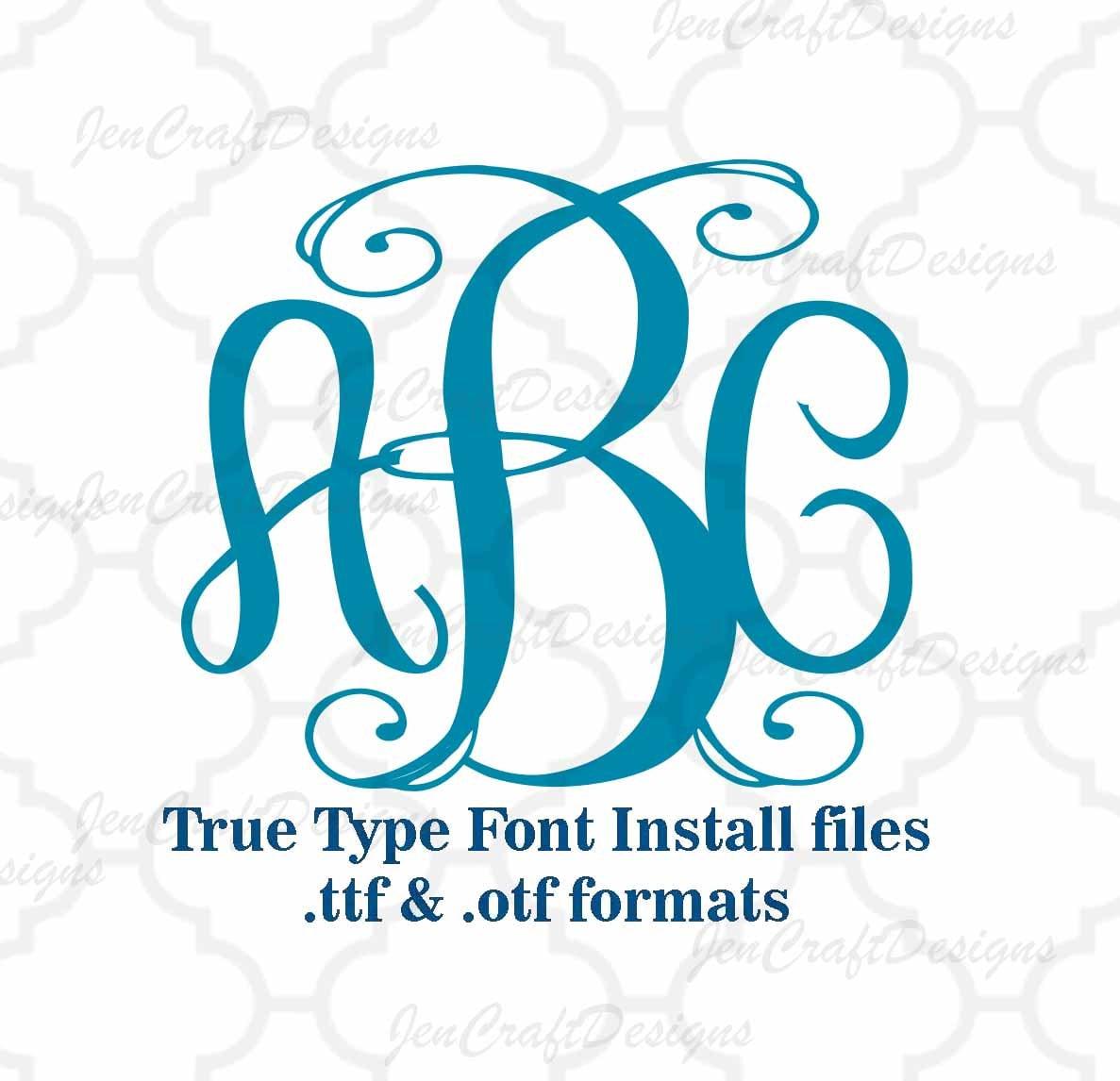 Classy vine interlocking monogram font in true type format zoom biocorpaavc Choice Image