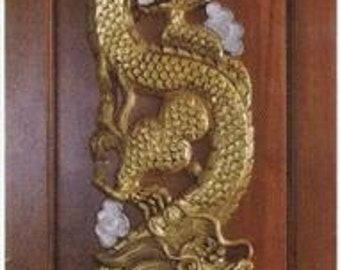 Carved teak wood interior exterior entry entrance front french doors design with gold dragon. & Carved teak wood interior exterior entry entrance front french