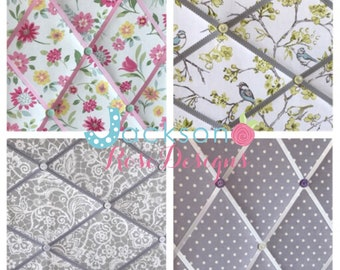 Handmade fabric memo board 60 x 90cm - Notice board - Kitchen - Office - Bedroom