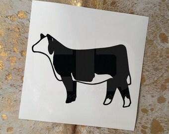 Show Cattle Hereford Heifer Vinyl Sticker