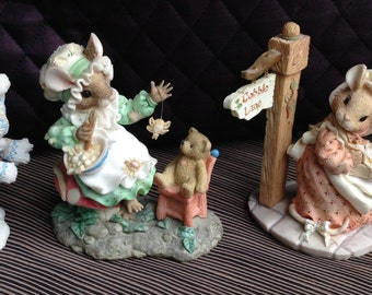 Priscilla's Mouse Tales, Enesco, I'll Be Home Christmas, Have Merry Little Christmas, Hot Cross Buns, Little Miss Muffet, With Box, HILLMAN