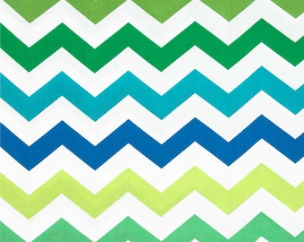 Michael Miller Fabrics - Chic Chevron Lagoon - PC5709-LAGO-D