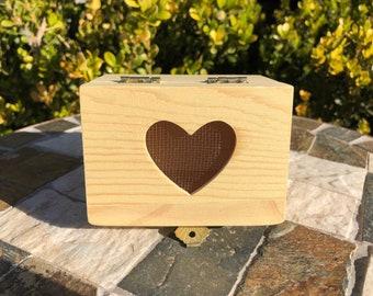 Ring Bearer Box, Natural Wood Ring Box, Ring Bearer Box