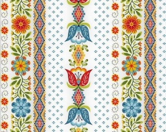 "Riley Blake Designs   ""Juxtaposey""  in  White by Betz White  Cotton Fabric"