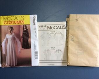 McCall's M4889 Uncut Pattern AA (6-8-10-12) Misses' 2005 Renaissance Long Dress Gown Costumes