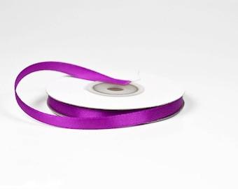 6 mm - 25 meters of ref 467 LILAC satin ribbon spool