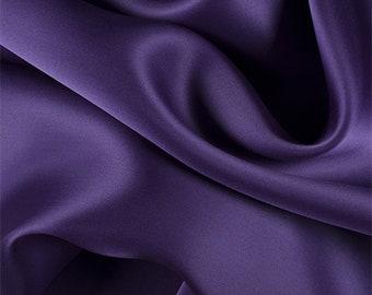 Purple Silk Satin Organza, Fabric By The Yard