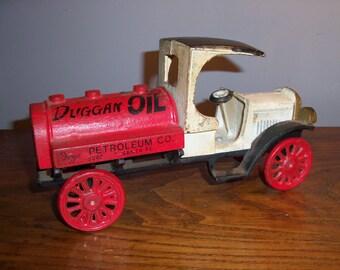 Vintage Heavy Cast Iron Large Toy Truck Duggan Oil