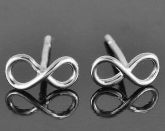 infinity earring, sterling silver earring, best friend earring, promise,mother daughter earring, friendship earring, sister, Bridesmaid Gift